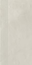 Tigua Bianco Stopnica Prosta Nacinana Mat.  - Biały - 298x598 - Elementy wykończeniowe - Tigua