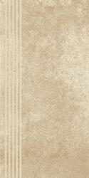 Flash Beige Stopnica Prosta Nacinana Mat.  - Beżowy - 300x600 - Płytki podłogowe - Flash