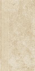 Flash Beige Stopnica Prosta Nacinana Półpoler  - Beżowy - 300x600 - Płytki podłogowe - Flash