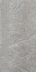 Flash Grys Stopnica Prosta Nacinana Mat.  - Szary - 300x600 - Elementy wykończeniowe - Flash
