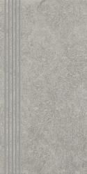 Flash Grys Stopnica Prosta Nacinana Półpoler  - Szary - 300x600 - Płytki podłogowe - Flash