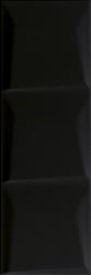 Maloli Nero ściana C Struktura  - Czarny - 200x600 - Płytki ścienne - Maloli