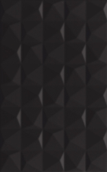 Melby Nero Ściana Struktura   - Czarny - 250x400 - Wall tiles - Melby / Elbo