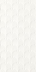Adilio Bianco Ściana Struktura Rekt. Fan  - Biały - 295x595 - Płytki ścienne - Adilio