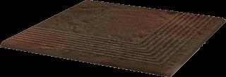 Semir Brown Stopnica Narożna   - Brązowy - 300x300 - Płytki podłogowe - Semir