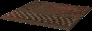 Semir Brown Stopnica Prosta   - Brązowy - 300x300 - Płytki podłogowe - Semir