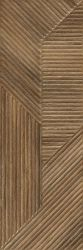 Woodskin Brown Ściana B Struktura Rekt.  - Brązowy - 298x898 - Wall tiles - Woodskin